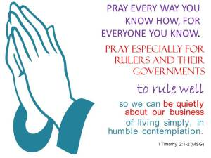 Pray for rulers