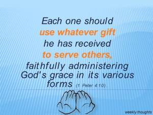 serve faithfully