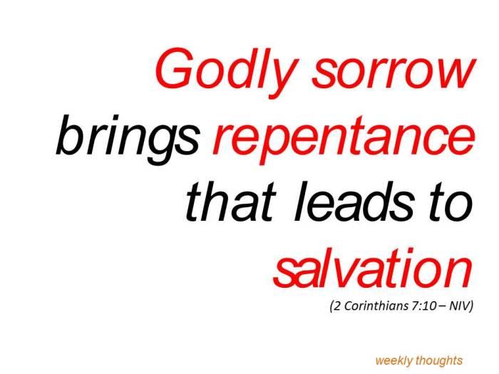 Godly sorrow