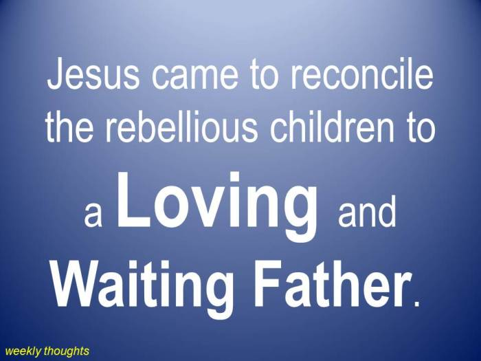 Jesus came to reconcile the rebellious children to.jpg