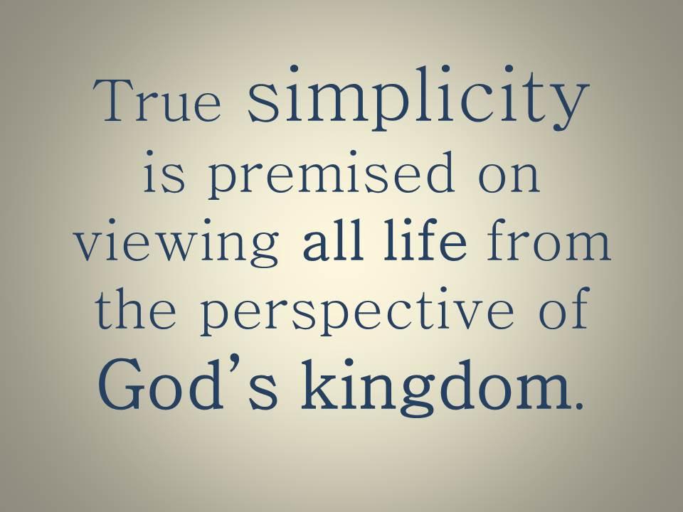 True simplicity